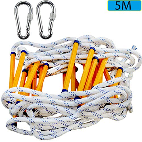 BBMMCLL Brandladder, reddingsladder, breiladder & vluchtladder & multifunctionele ladder & veiligheidsladder Brandvaste brandblusser met karabijnhaak. Gewicht capaciteit tot 250 kg, A,5