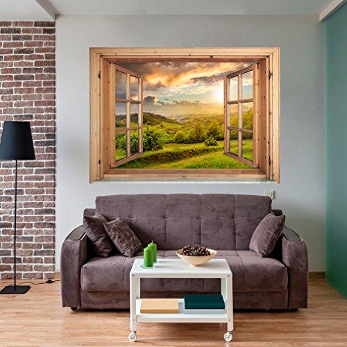 decomonkey | Optische Täuschung | Weitblick Fensterblick 3D Wandillusion ca 140x100 cm Wandbild Fototapete Tapete Poster XXL Vlies Leinwand Bilder DekorationTOC0030aM