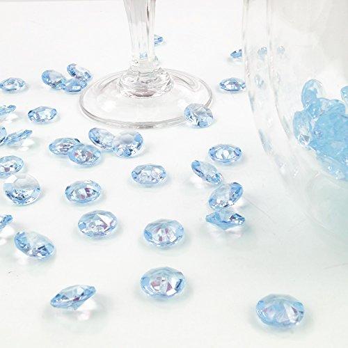 Deko-Diamanten 12 mm himmelblau 100 Stück - Streudeko Deko Steine Kristalle Diamanten