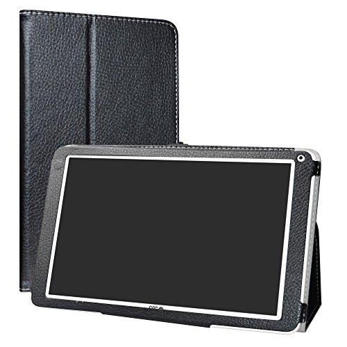 SPC Heaven Funda,LiuShan Folio Soporte PU Cuero con Funda Caso para 10.1' SPC Heaven Android Tablet,Negro
