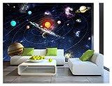 Sun Space Stars Planets Solar System Wallpaper Mural Photo Children Room Poster DIY Decoration 260cmx175cm