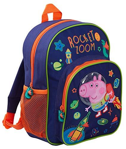 Peppa varken George varken luxe 3D-rugzak ruimte astronaut kinderen reizen bagage boek tas kinderkamer rugzak