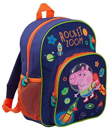 Peppa Pig George Pig - Mochila 3D de lujo para niños, Mochila
