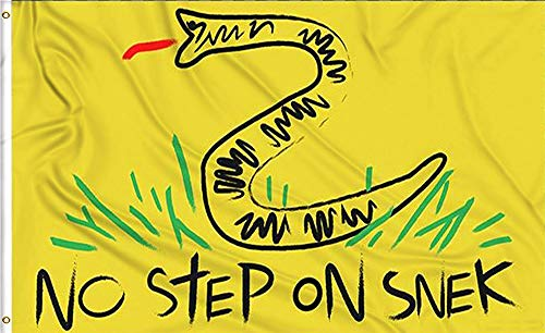 Aimto 3x5 FT No Step On Snek Flag - Bright Colors and Anti-Fading Materials Polyester Canvas and Brass Buttonhole