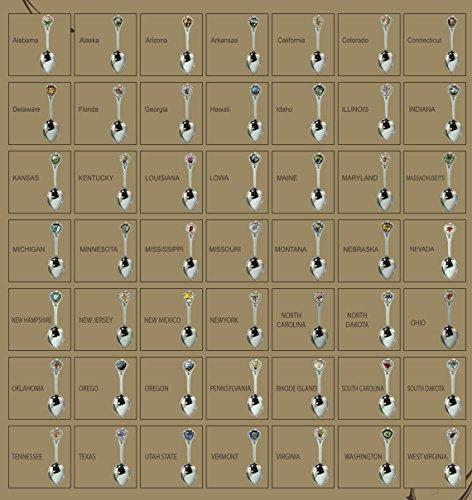 """50 State Souvenir Spoons (50 Nos) Metal Zinc Alloy 3.5"""""""