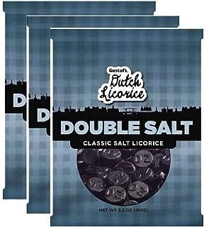 Gustaf's Dutch Licorice Double Salt Classic Salt Licorice, 5.29oz - Pack of 3
