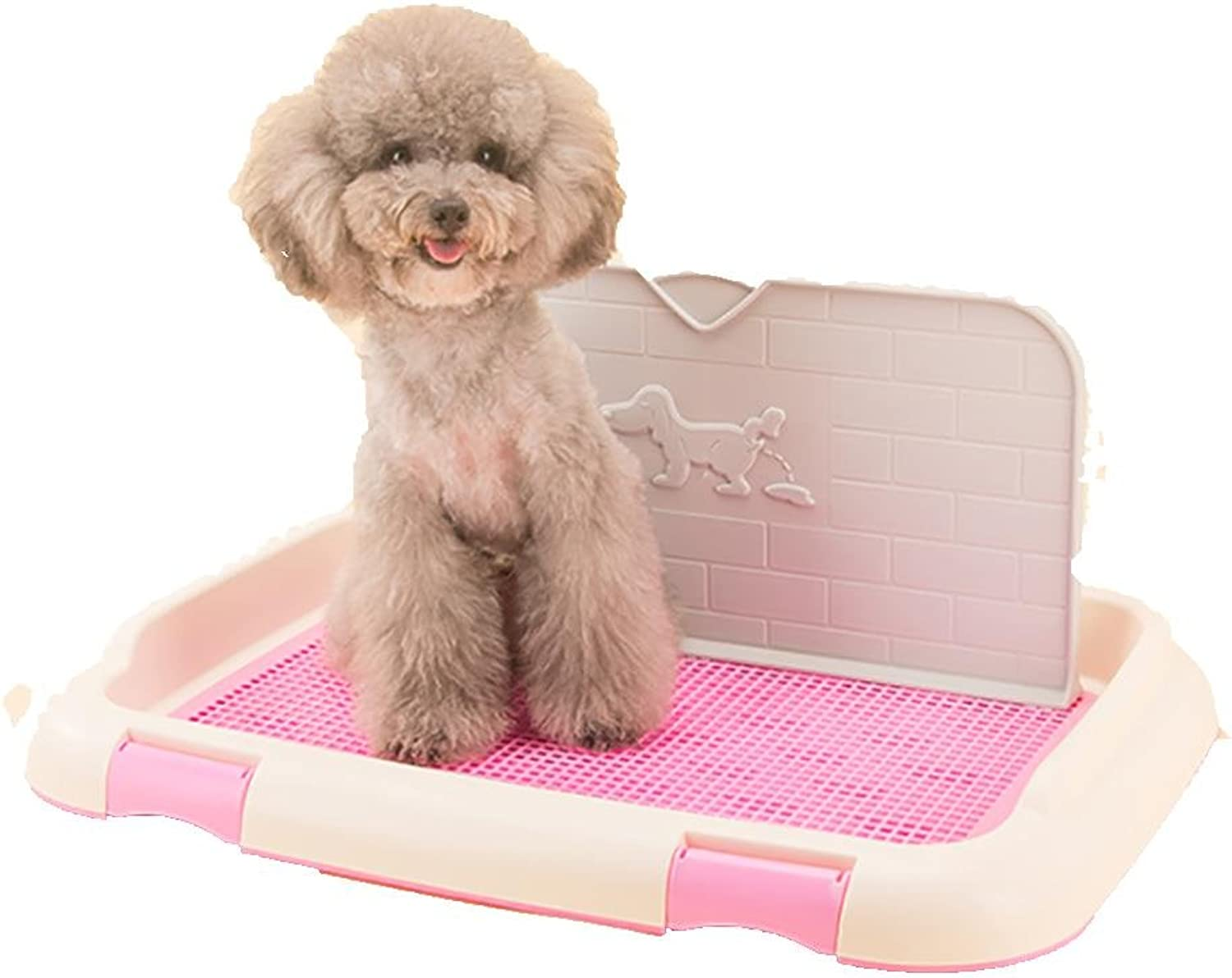 LYAQI Newest Design Indoor Outdoor Pet Potty Puppy Toilet with Simulation Wall