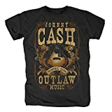 Photo de Johnny Cash - T-shirt - Manches Courtes - Homme Noir