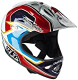 Troy Lee D2   Casco, Unisex Adulto, D2, Rosso - Rosso/Bianco