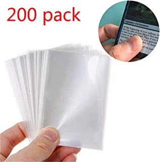 """LinaLife 200 Pack Card Sleeves Magic Game Board Tarot Three Kingdoms Poker Cards Protector 2.6"""" x 3.55"""" Clear Deck Sleeves Light and Transparent Board Game Card Sleeves, Card Protectors"""
