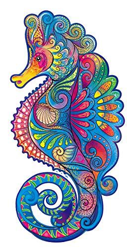 SAKHRI PARIS® - Puzzle de Madera para Adultos & Animales con Pegamento - Jad el camaleón de Marseille - Rompecabezas, Juegos familiares, Original, Niños, Idea, Regalo, Pasatiempos educativos