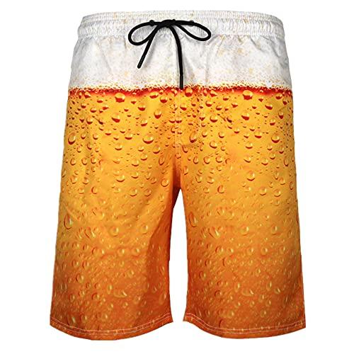 N\P Pantalones de playa de secado rápido para hombre pantalones cortos casuales D impresos grandes pantalones deportivos