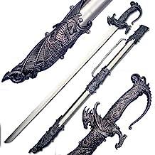 Ace Martial Arts Supply Saint George Dragon Saber Fantasy Knight Sword or Dagger