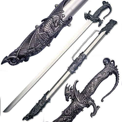 Ace Martial Arts Supply Saint George Dragon Saber Fantasy Medieval Knight Sword, 36-Inch/Large