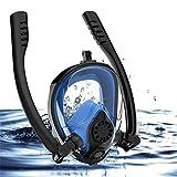 N\A Al Aire Libre Anti-Niebla de la Cara Llena Scuba Snorkel máscara del Salto Doble Tubo de Soporte de la cámara Gafas de natación con Go-Pro Accesorios de Surf (Color : Blue)