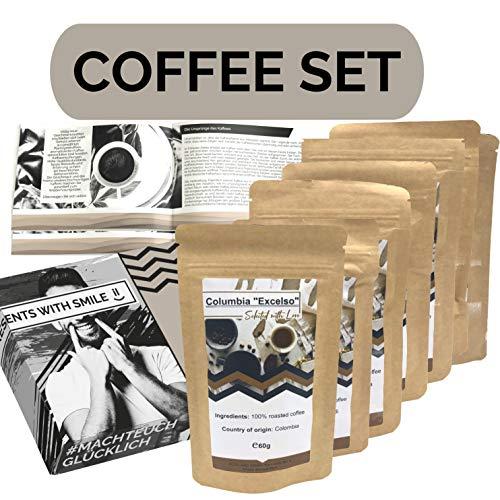 Koffiereis over de hele wereld 360g-doos als proefpakket fijne koffie van over de hele wereld in een geschenkdoos als cadeau voor koffieliefhebbers
