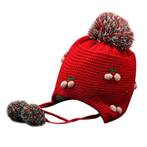 Familizo B/éb/é Fille Gar/çon Bonnet Tricot/é Bonnet Froid Chapeau Chaud Dhiver Denfants