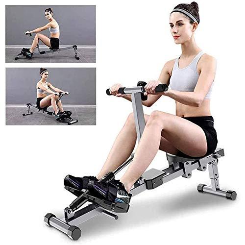 QMMYA, vogatori pieghevoli, attrezzatura per il fitness a casa, visualizzazione dati HD, perdita di peso e costruzione muscolare, attrezzatura fitness addominale