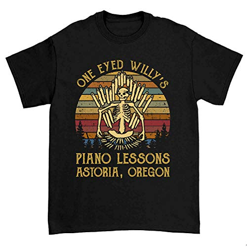 One Eyed Willy's Piano Lessons Astoria Vintage Gift Idea Tshirt
