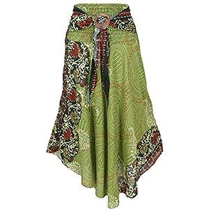Guru-Shop Falda de verano maxi hippie chic para mujer, color rosa, sintética, talla: 38, falda/larga, ropa alternativa | DeHippies.com