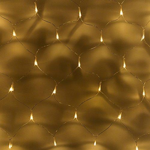 100er LED Solar Lichternetz warm weiß Außenbereich Lights4fun