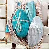 Moily Fayshow Coperte da Lancio Buona Pasqua a Tema Uova nel Nido Coperta in Pile di Flanella Stampata Coperte Leggere per Divano Letto Comodo, 102 X 127 cm