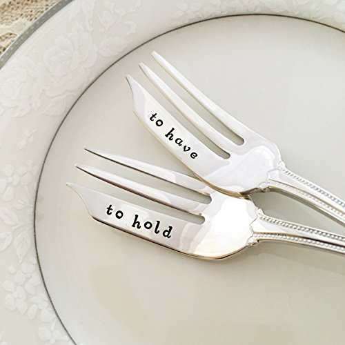 to have & to hold :hand stamped forks, vintage by Lorelei Vella, pastry