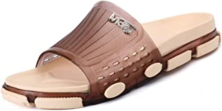 Sumuzhe Cool and Comfortable Unisex Slippers Wide Band Open Toe Supper Soft PVC Outsole Lover Shoes (Color : Brown, Size : 5 UK)
