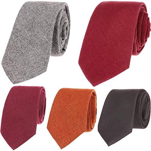 Neckchiefs Color sólido Lana Textil Hombres Corbatas Flores Ideal ...