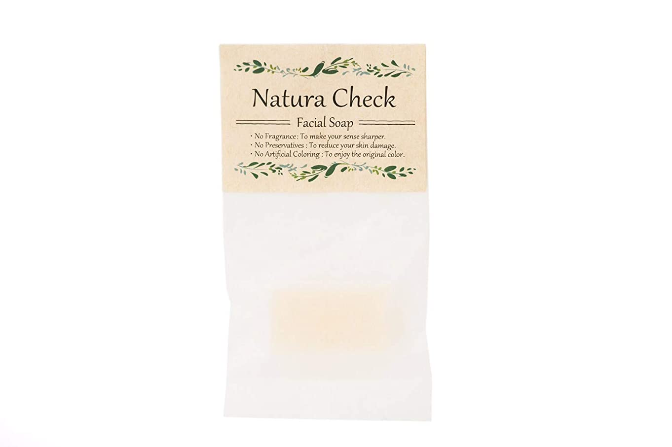 染料がんばり続けるクレジットNatura Check(ナチュラチェック)無添加洗顔せっけん10g お試し?トラベル用サイズ
