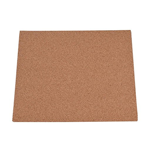 Wendry Hot Bed Cork Plate for 3D Printer, 300 x 300 x 3mm 3D Printer Hotbed Thermal Pad, Cork Sheets Heated Bed Hot Plate with Adhesive Tape for 3D Printer
