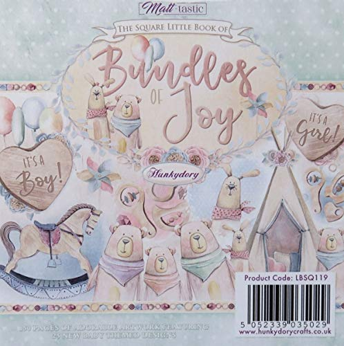Hunkydory Square Little Book of Bundles of Joy- 150 Pages 5x5-inches LBSQ119