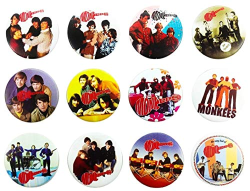 The Monkees Awesome Quality Lot 12 New Pins Pinback Buttons Badge Brooch 1.25'