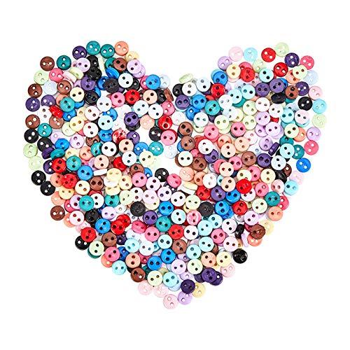 NBEADS 15 Colores 450 Piezas Botones de Costura, 4.5mm Botones Redondos de...