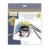 Avenue Mandarine - Libro para colorear Wild 5 Emmanuelle Colin - 28 páginas para colorear - Papel Clairefontaine certificado PEFC - Para lápices de colores, rotuladores o acuarelas - GY120C