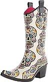 M&F Western Size 7 Rain Boots Blazin Roxx Womens Cream Sugar Skull Snip Toe Leg