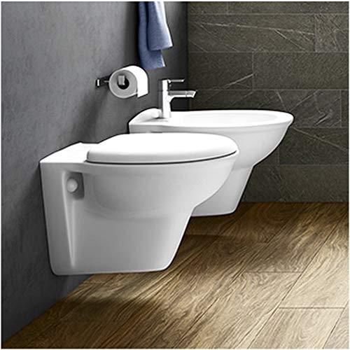 Inbagno Coppia di SanitariSospesi in Set Composto da WC + Bidet + Copriwc RAK Ceramiche