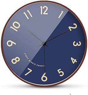 Multi-Clocks Reloj de Pared Wall Clock Clocks Sala de Estar Europea Personalidad Creatividad Moda Dormitorio Reloj de péndulo casero de Madera sólida Simple silencioso A 8 Inch