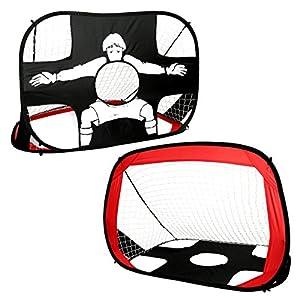 Livememory - Portería de fútbol plegable y con red para niños, ideal para hacer deporte y práctica en interiores y exteriores (110 cm x 80 x 80 cm).