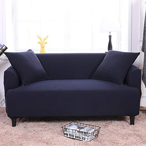 HXTSWGS Funda para sofá de Tela,Funda elástica para sofá, Funda para sofá de Sala de Estar, Funda para Muebles elástica-Navy_235-300cm