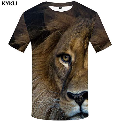 YUNDONGXIENV Animal T-Shirt Hommes Oiseau T-Shirts Chemise Décontractée Imprimer Féroce Vêtements Hip Hop T-Shirt Imprimé Vêtements pour Hommes
