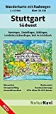 Stuttgart Südwest: Wanderkarte mit Radwegen, Blatt 50-539, 1 : 25 000, Renningen, Sindelfingen, Böblingen, Leinfelden-Echterdingen, Weil im Schönbuch (NaturNavi Wanderkarte mit Radwegen 1:25 000)