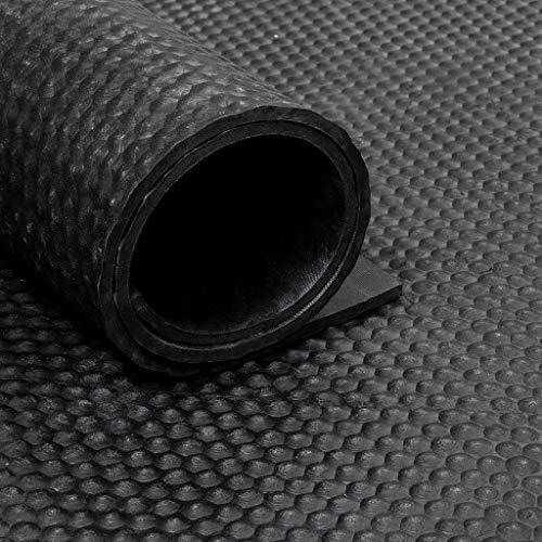Gummiläufer/Gummimatte von der Rolle - Noppen (200 cm x 6 mm)