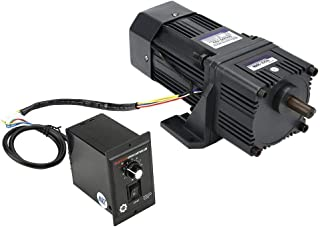 KEKEYANG Reducción de Motor de Ajuste de Velocidad del Motor, CW/CCW Motor Reducción con Caja de Cambios gobernador CA 220V 200W M6200-502 (100K) Industrial