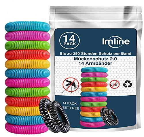 Mückenschutz Armband (14 Stück) Anti Mückenarmband zum Schutz gegen Mücken Camping wandern Zubehör