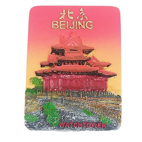 Torre di vigilanza 3D della città proibita Pechino Cina Frigo Magnet Viaggio Sticker Souvenir, Casa & Cucina Decorazione, Bejing China Frigorifero Magnet