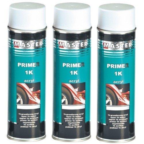 Troton 1K Weiß 3 x 500ml Spray GRUNDIERUNG Acryl FÜLLER HAFTGRUND Auto Primer