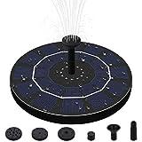Solar Fuente Bomba, 2.5W Fuente de Jardín Solar, Flotado Solar Panel Incorporada con 6 boquillas Ideal para Jardín y Birdbath y Estanque
