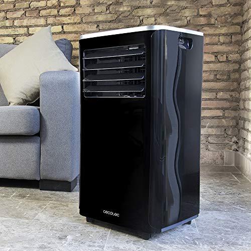 Cecotec Aire acondicionado frío calor portátil EnergySilence Clima 9250 SmartHeating. Potente 4 en 1, Ultrasilencioso, 9000 BTU, 350 m³/h, Pantalla digital, Temporizador 24 horas, Mando a distancia