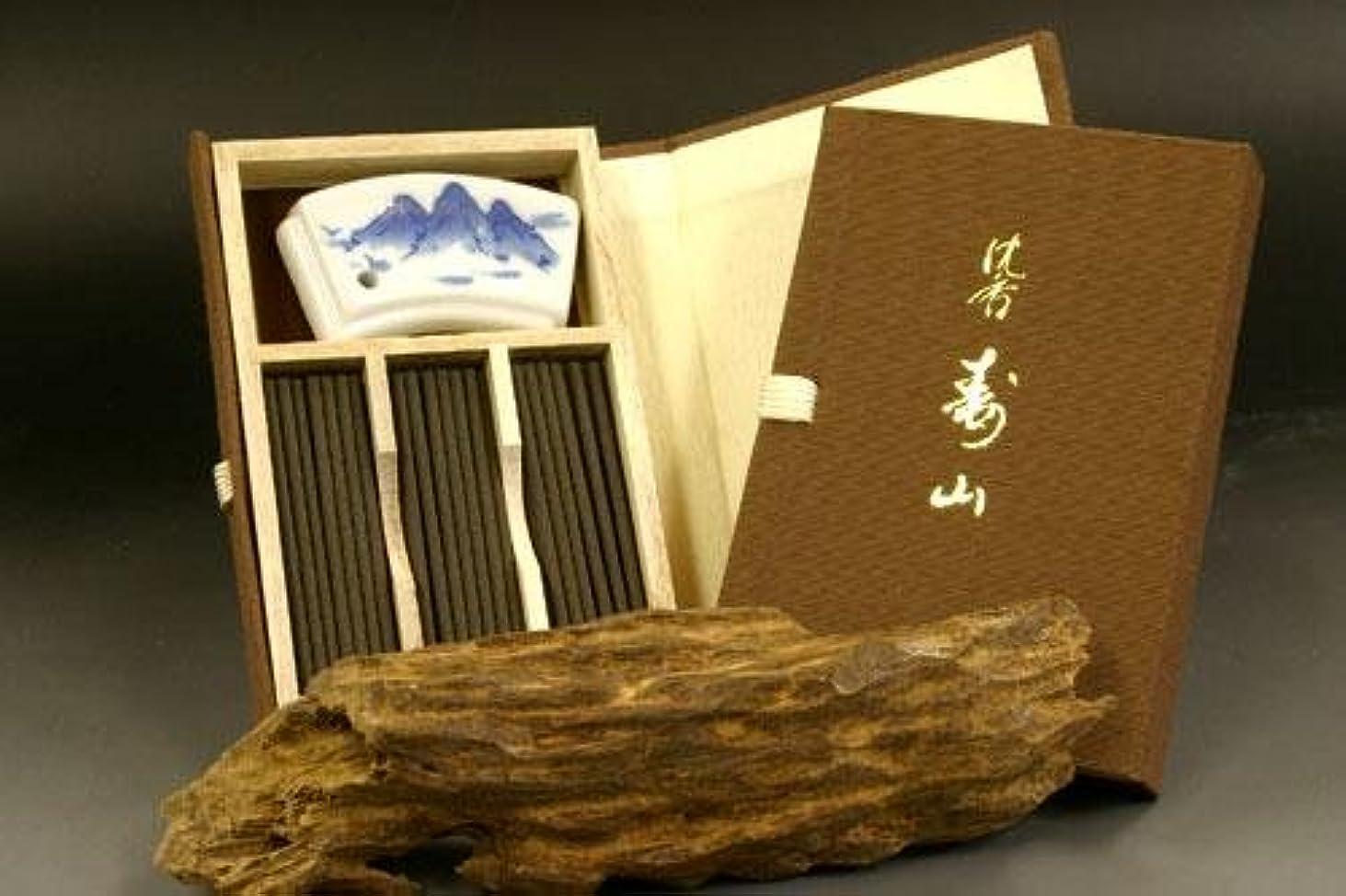 免除ドレインダーリン日本香堂のお香 沈香寿山 スティック ミニ寸 文庫型60本入り